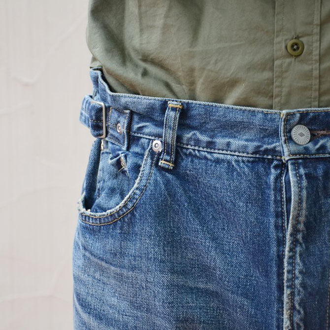 YOUNG&OLESEN(ヤングアンドオルセン) big cinch jeans-WASHED OUT-(6)
