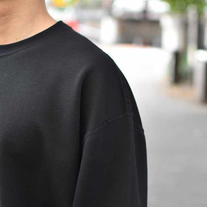 【2018 AW】AURALEE(オーラリー)/ SUPER SOFT HEAVY SWEAT P/O -BLACK- #A8AP01GU(6)