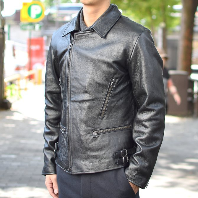 【2018 AW】 FRANK LEDER(フランクリーダー) | ARCHIVE EDITION COW LEATHER BIKE JACKET + SPADE -(99)BLACK- #0422065-99(6)