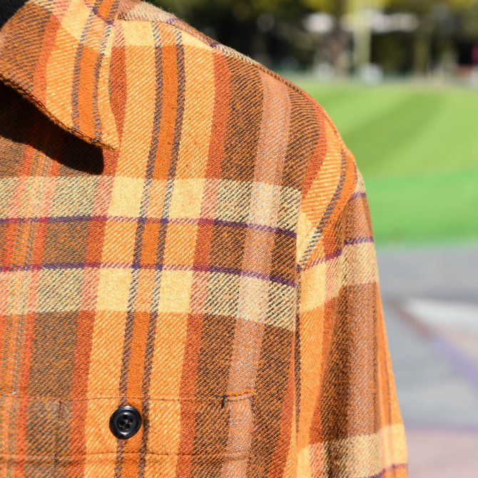 South2 West8(サウスツーウエストエイト) Work Shirt  [Cotton Twill / Plaid ] -BROWN-  #DI846(6)