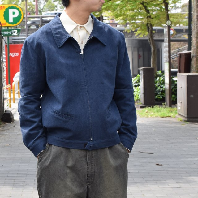 【30% off sale 】FRANK LEDER(フランクリーダー) COTTON SPADE JACKET -(39)NAVY- #0612009-39(6)
