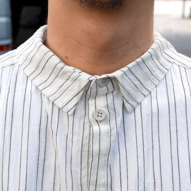 【2019 SS】 too good(トゥーグッド) / THE DRAUGHTSMAN SHIRTS WIDE -TICKING STRIPE-(6)