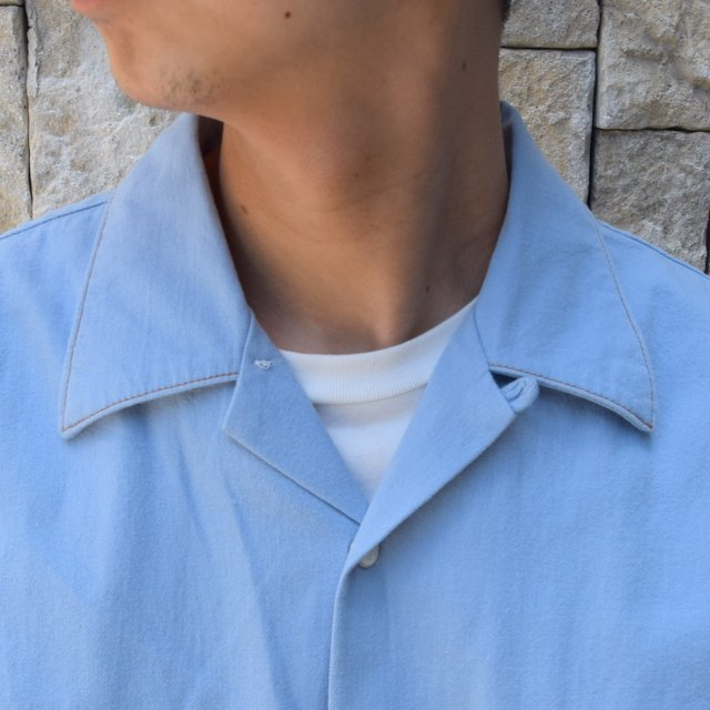 【30% off sale 】WESTOVERALLS( ウエストオーバーオールズ )  DENIM S/S SHIRTS 19SWSH01-SA(6)