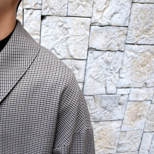 YOKE(ヨーク)/FIVE COLORS PLAID WOOL 3WAY BAL COLLAR SHARE COAT -BEIGE PLAID- #YK19AW0046C(6)