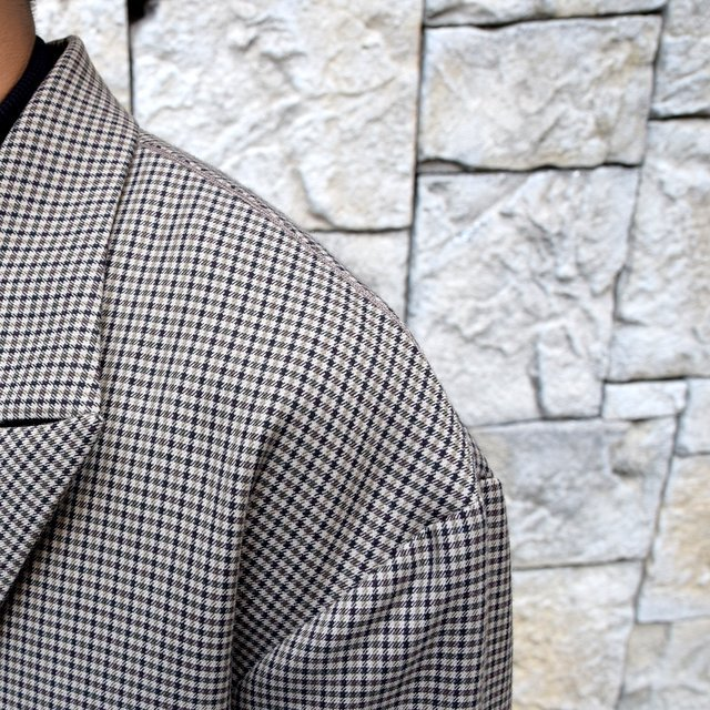 YOKE(ヨーク)/FIVE COLORS PLAID WOOL LOOSE DOUBLE BREASTED JACKET -BEIGE PLAID- #YK19AW0047J(6)