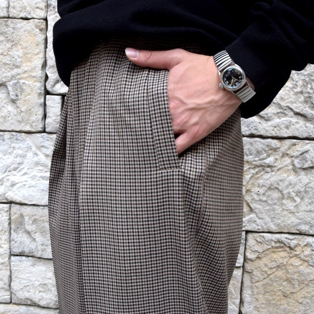 YOKE(ヨーク)/FIVE COLORS PLAID WOOL 1TUCK WIDE TROUSERS -BEIGE PLAID- #YK19AW0048P(6)
