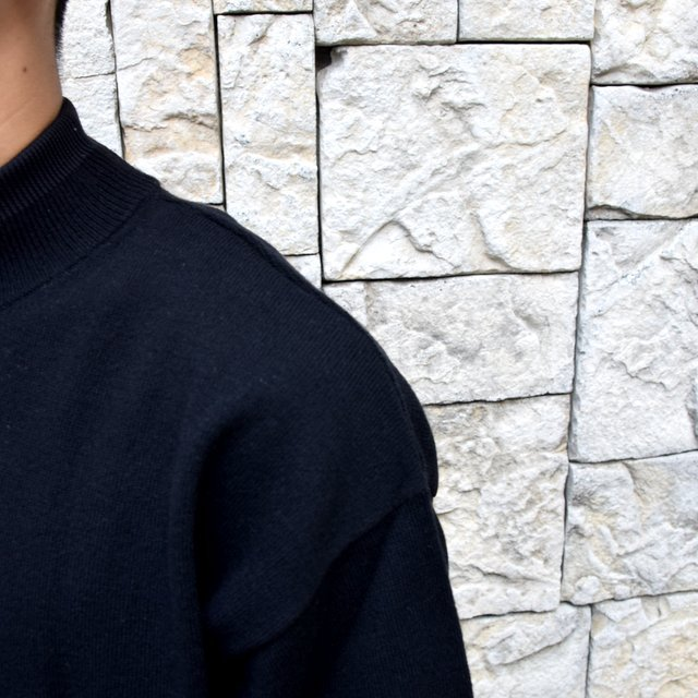 YOKE(ヨーク)/WOOL SABLE MOCK NECK L/S -BLACK- #YK19AW0075S(6)