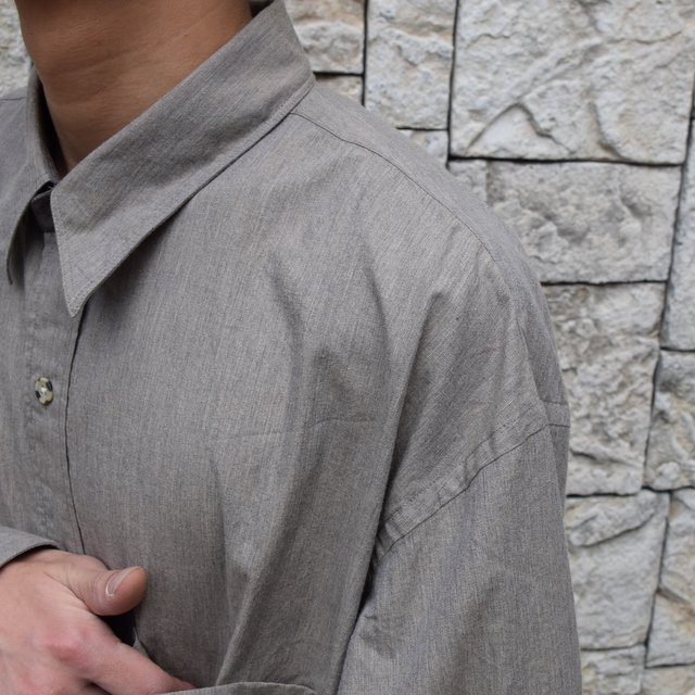Marvine Pontiak Shirt Makers(マーヴィンポンティアックシャツメーカーズ)/TWO TONE L/S Shirt -BROWN- #MPSM-1913S(6)