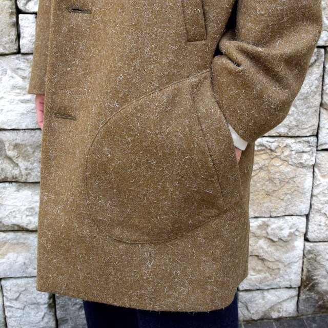 【30% off sale】FRANK LEDER(フランクリーダー) /DOG WOOL SINGLE BREASTED COAT -KHAKI- #0721014(6)
