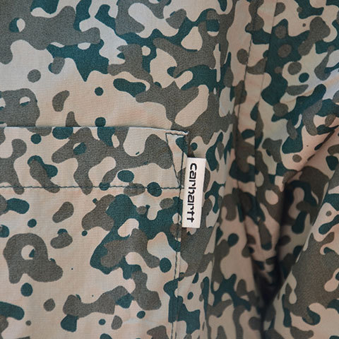 【20% off sale】Carhartt(カーハート) S/S Camo Stain Shirt -Camo Stain Leaf-(7)