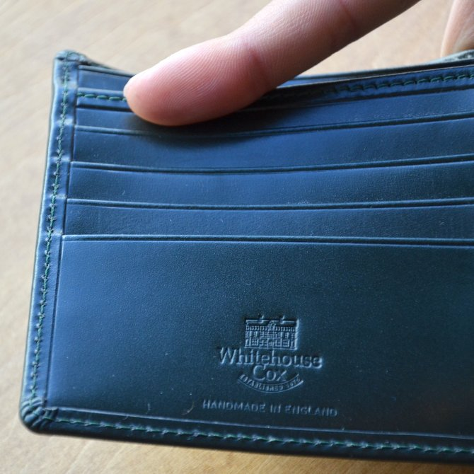Whitehouse Cox (ホワイトハウスコックス)  COIN WALLET BRIDLE S7532 -GREEN-(7)