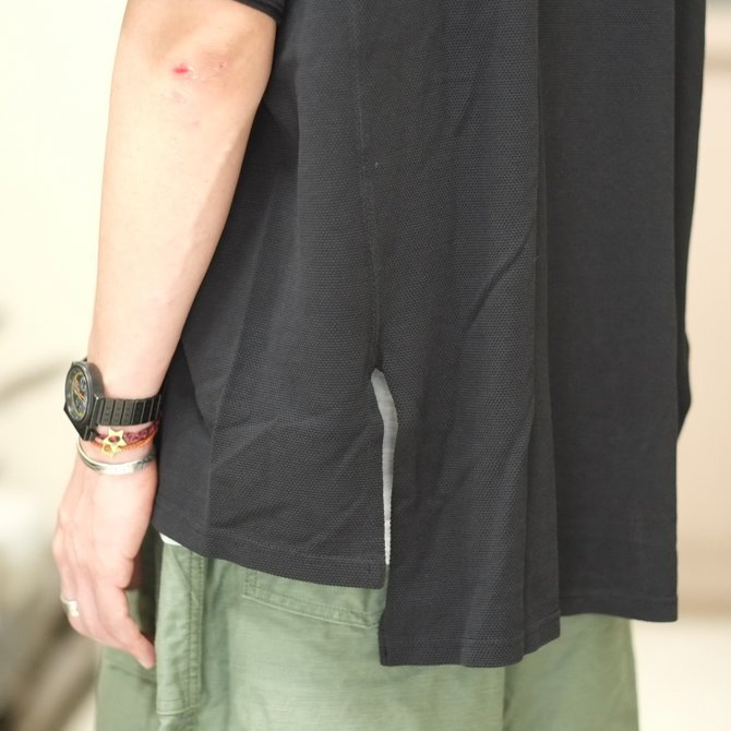 blurhms(ブラームス) / Seed Stitch Cubic Polo  -Black-  BHS-18SS024(7)