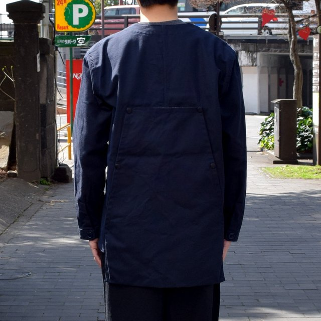 holk (ホーク) Farmers jacket -NAVY- #HOLK-002 (7)