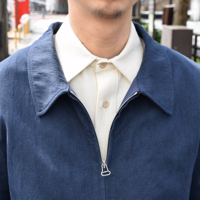 【30% off sale 】FRANK LEDER(フランクリーダー) COTTON SPADE JACKET -(39)NAVY- #0612009-39(7)