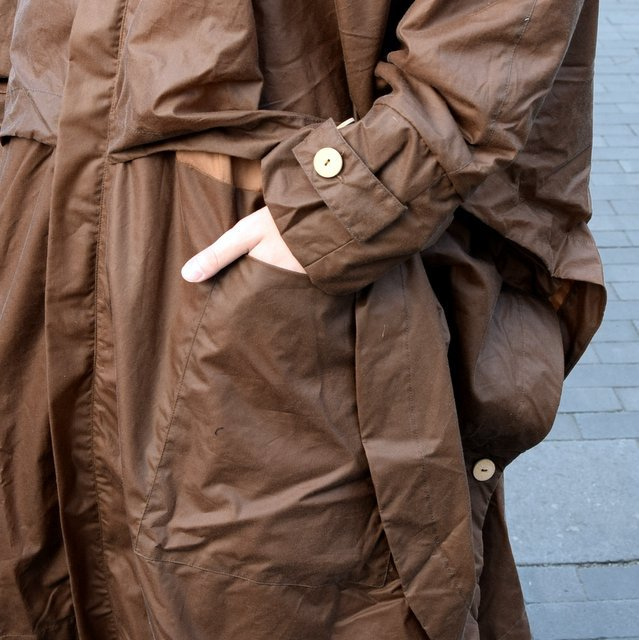 【2019 SS】 too good(トゥーグッド) / THE MESSENGER CAPE WAXED COTTON LW -CLAY-(7)