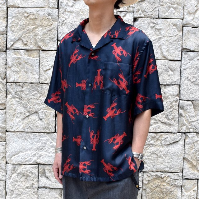 【40% off sale】【2019 SS】blurhms(ブラームス) / SILK OPEN COLLAR PATTERN S/S -LOBSTER- #BHS-19SS023PTN(7)