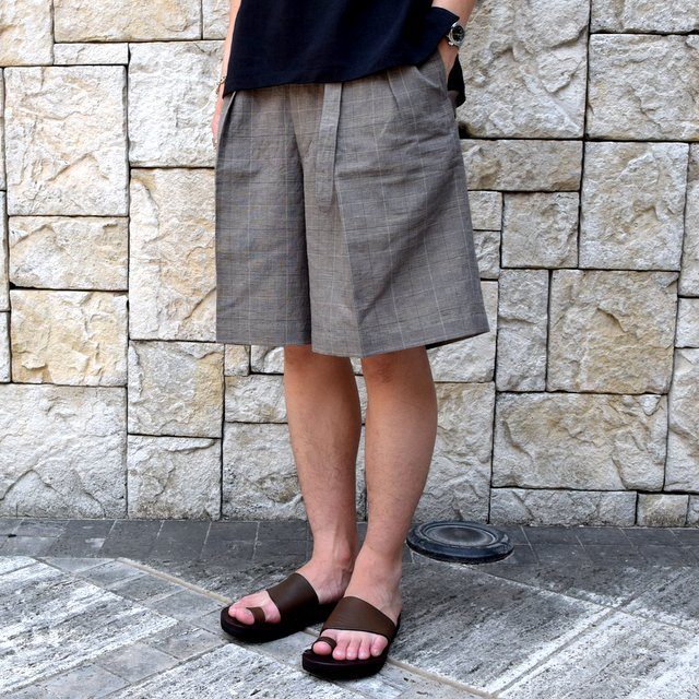 【30% off sale 】KAPTAIN SUNSHINE (キャプテンサンシャイン)/ Riviera Gurkha Shorts -GREN PLAID- #KS9SPT04(7)