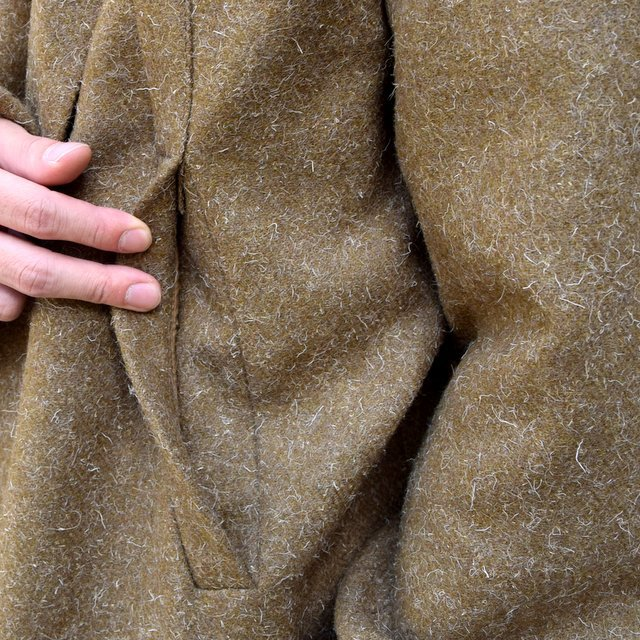 【30% off sale】FRANK LEDER(フランクリーダー) /DOG WOOL SINGLE BREASTED COAT -KHAKI- #0721014(7)