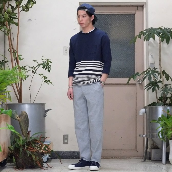 FLISTFIA(フリストフィア) 3/4 Sleeve Border T-Shirts -NAVY x Off White - (8)
