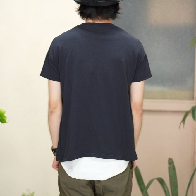 Cal Cru(カルクルー) C/N S/S RELAXED FIT反応染め(MADE IN USA)  -BLACK-【S】(8)