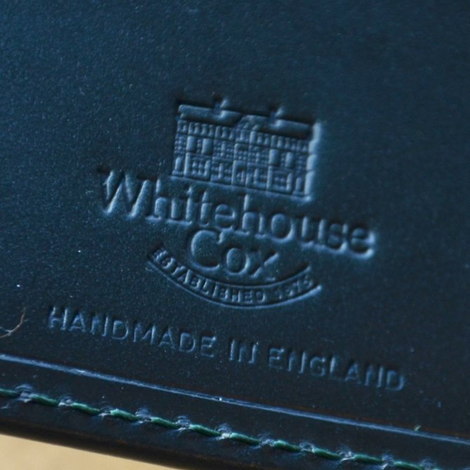 Whitehouse Cox (ホワイトハウスコックス)  COIN WALLET BRIDLE S7532 -GREEN-(8)