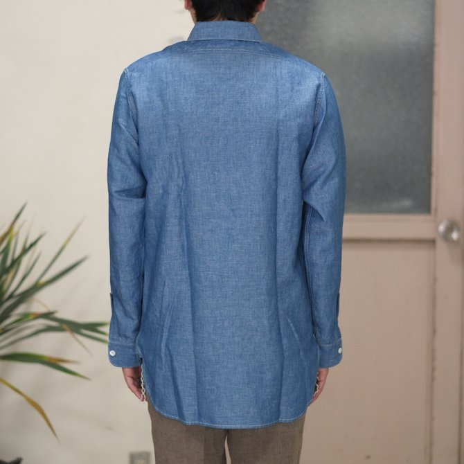 【30% OFF SALE】【2017 SS】7 × 7 / seven by seven ( セブン バイ セブン ) CHAMBRAY SHIRT  - ONE WASH -  #SS2017-7x7CBS(8)