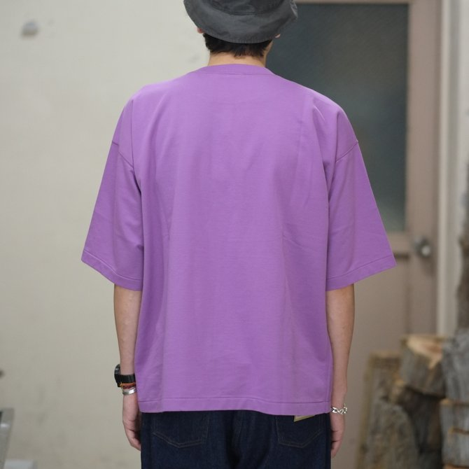 【2018 SS】AURALEE(オーラリー)/  SUPER HIGH GAUGE SWEAT BIG TEE -PURPLE- #A8ST02NU(8)