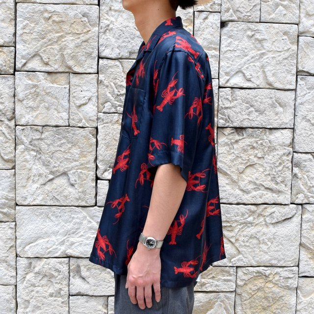 【40% off sale】【2019 SS】blurhms(ブラームス) / SILK OPEN COLLAR PATTERN S/S -LOBSTER- #BHS-19SS023PTN(8)