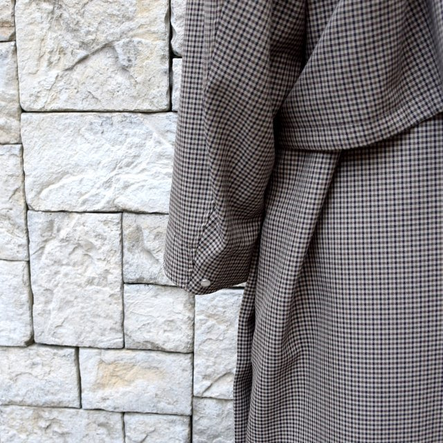YOKE(ヨーク)/FIVE COLORS PLAID WOOL 3WAY BAL COLLAR SHARE COAT -BEIGE PLAID- #YK19AW0046C(8)