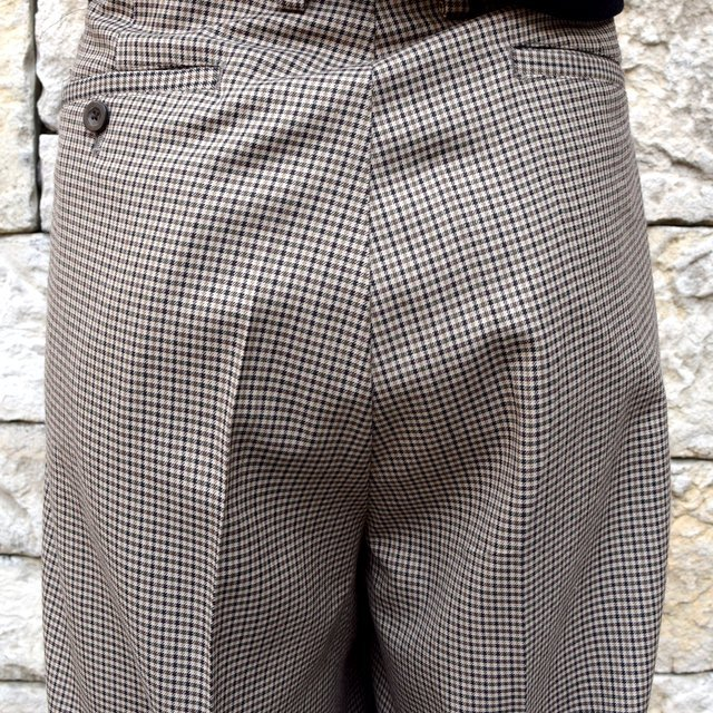 YOKE(ヨーク)/FIVE COLORS PLAID WOOL 1TUCK WIDE TROUSERS -BEIGE PLAID- #YK19AW0048P(8)