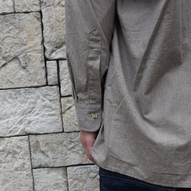 Marvine Pontiak Shirt Makers(マーヴィンポンティアックシャツメーカーズ)/TWO TONE L/S Shirt -BROWN- #MPSM-1913S(8)
