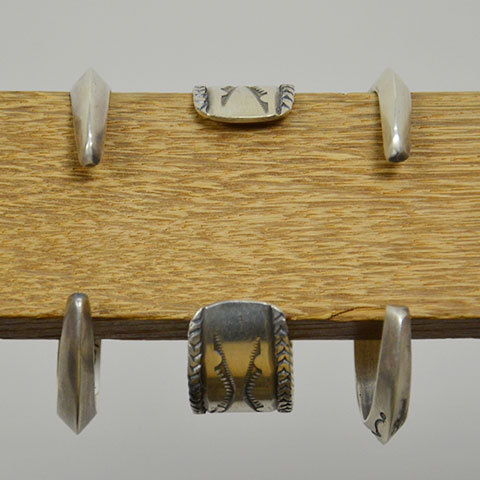 AL SOMERS(アルソマーズ) SILVER TRIANGLE BANGLE -B1357-(9)