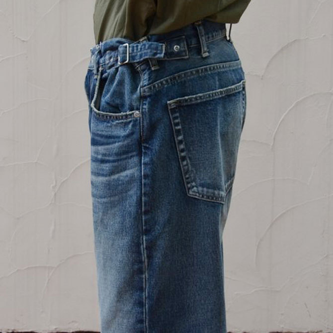 YOUNG&OLESEN(ヤングアンドオルセン) big cinch jeans-WASHED OUT-(9)