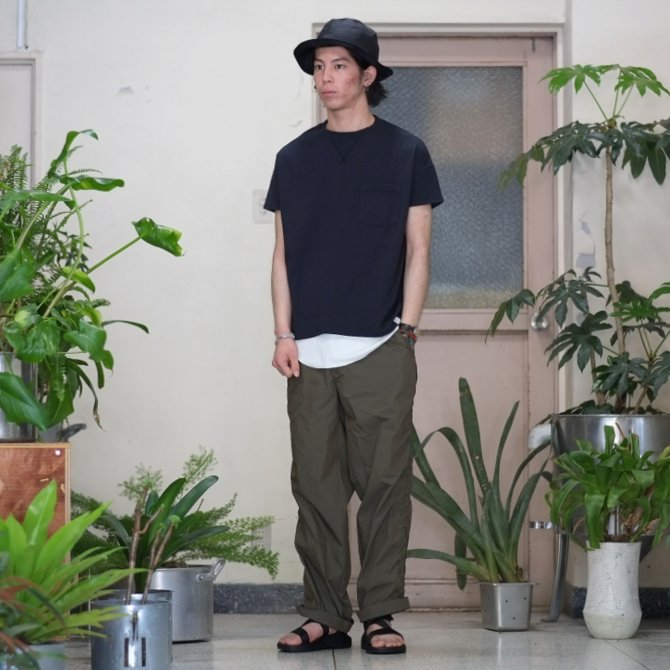 Cal Cru(カルクルー) C/N S/S RELAXED FIT反応染め(MADE IN USA)  -BLACK-【S】(9)