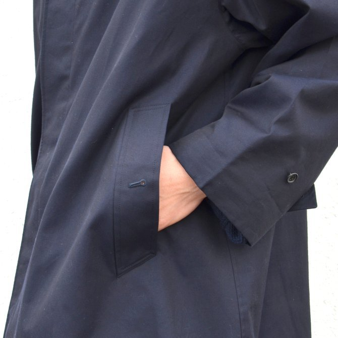 ANATOMICA(アナトミカ)/ SINGLE RAGLAN COAT GABARDINE -(500)NAVY- #530-511-06(9)