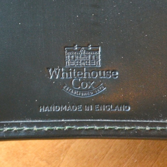Whitehouse Cox (ホワイトハウスコックス)  3FOLD WALLET BRIDLE S7660 -GREEN-(9)