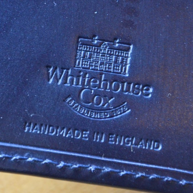 Whitehouse Cox (ホワイトハウスコックス)  3FOLD WALLET BRIDLE S7660 -NAVY-(9)
