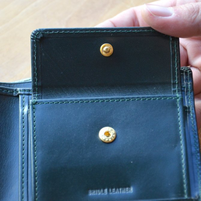 Whitehouse Cox (ホワイトハウスコックス)  COIN WALLET BRIDLE S7532 -GREEN-(9)
