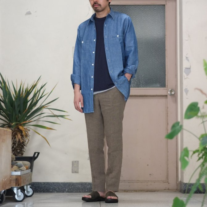 【30% OFF SALE】【2017 SS】7 × 7 / seven by seven ( セブン バイ セブン ) CHAMBRAY SHIRT  - ONE WASH -  #SS2017-7x7CBS(9)