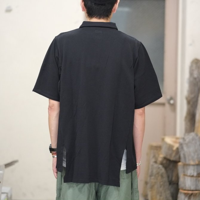 blurhms(ブラームス) / Seed Stitch Cubic Polo  -Black-  BHS-18SS024(9)