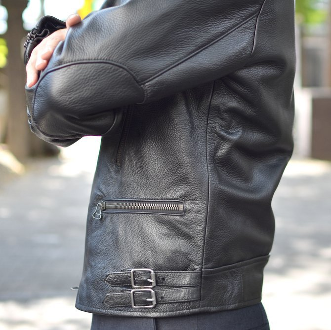 【2018 AW】 FRANK LEDER(フランクリーダー) | ARCHIVE EDITION COW LEATHER BIKE JACKET + SPADE -(99)BLACK- #0422065-99(9)