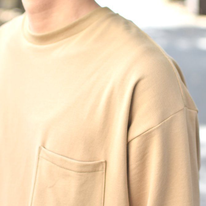 【2018 AW】 Graphpaper (グラフペーパー) L/S Pocket Sweat Tee -BEIGE- #GM183-70078(9)