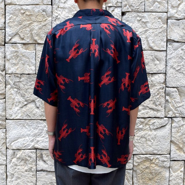 【40% off sale】【2019 SS】blurhms(ブラームス) / SILK OPEN COLLAR PATTERN S/S -LOBSTER- #BHS-19SS023PTN(9)