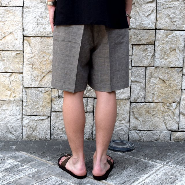 【30% off sale 】KAPTAIN SUNSHINE (キャプテンサンシャイン)/ Riviera Gurkha Shorts -GREN PLAID- #KS9SPT04(9)