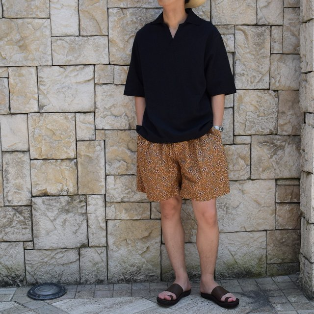 【30% off sale 】KAPTAIN SUNSHINE (キャプテンサンシャイン)/Athletic Wide Shorts -Sand Beige- #KS9SPT15(9)