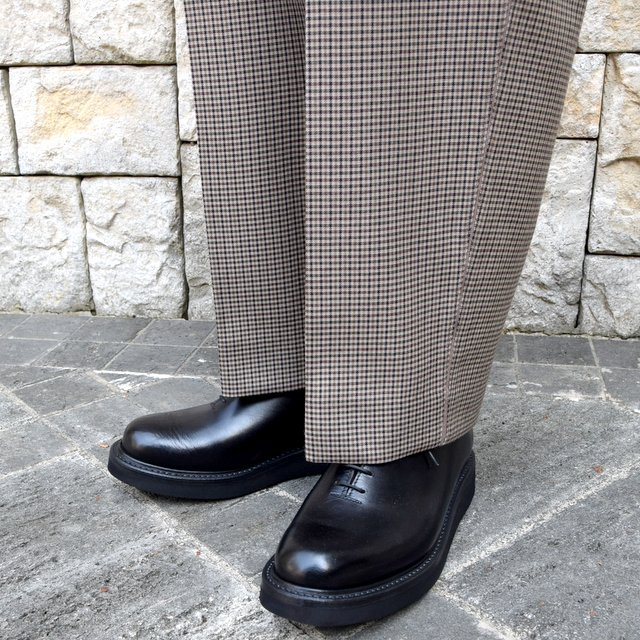 YOKE(ヨーク)/FIVE COLORS PLAID WOOL 1TUCK WIDE TROUSERS -BEIGE PLAID- #YK19AW0048P(9)