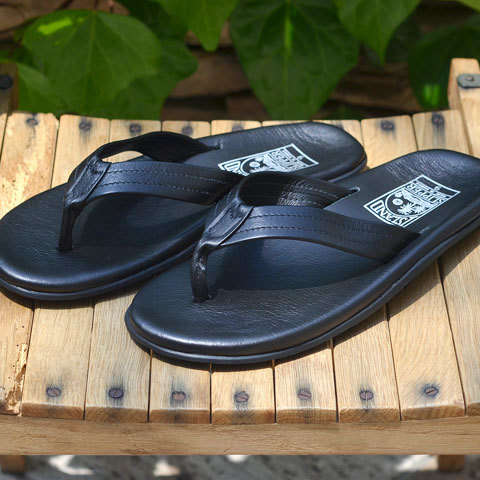 ISLAND SLIPPER (アイランドスリッパー) Men's Thong -BLACK-(9)