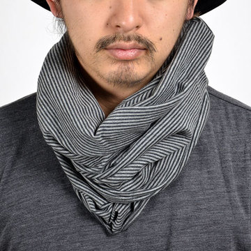 【30% off sale】wings+horns(ウィングアンドホーンズ ) TUBE SCARF Cotton Cashmere Jersey -Stripe-