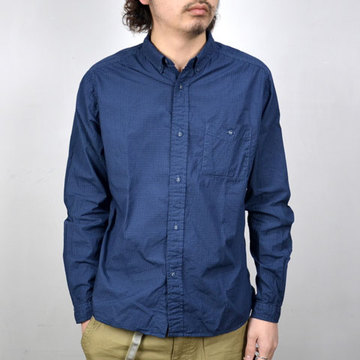 【20% off sale】Wardrobe(ワードローブ) Gingham Check Garment Dyed Shirt -NAVY-