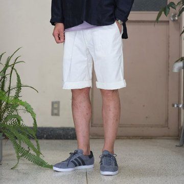 MASTER&Co.(マスターアンドコー) CHINO SHORTS with BELT -(80)WHITE-